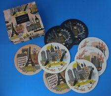 Rifle Paper Co Bon Voyage Coaster Set Paris Tokyo NY London Keepsake Box *NEW*