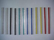 12 pcs 40 broches mâle simple rangée des en-têtes multi couleur 2.54mm pitch-vendeur britannique