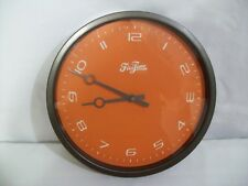 "FirsTime 12"" Wall Clock ""Valencia"" Orange & Bronze Tone"