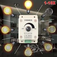1-10 PCS DC 12-24V 8A LED Light Strip Dimmer Adjustable Brightness Controller GA