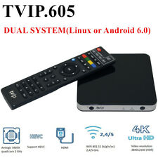 TVIP V.605 TV Box IPTV 4K Quad Core Linux Android M3U Set-Top Box 2.4/5Ghz WIFI