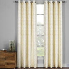 Set of 2 Catalina Jacquard Grommet-Top Curtain, 2PC Machine Washable Panels