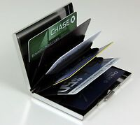 Stainless Steel RFID Blocking Credit Card Holder for Men & Women Wallet  Case *