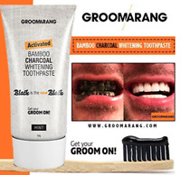 Groomarang Activated Bamboo Charcoal Teeth Whitening Toothpaste Gel Mint Flavour