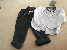 JEAN BOURGET Designer Toddler Girls 12m PANTS/CARDIGAN OUTFIT/SET - NWT