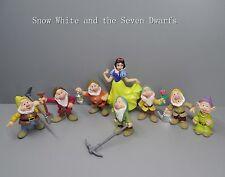 "lot of 8 Snow White and the Seven Dwarfs pvc figure set 2""-4"""
