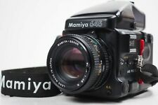 """NMint"" MAMIYA 645 Pro TL AE Finder w/ Sekor C 80mm f/2.8 N Strap From Japan"