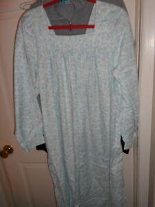 womans sz 1X all cotton farmhouse flannel gown NWOT