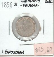 German States - Prussia 1 Groschen 1856 A Mint UNC Uncirculated