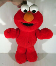 """VINTAGE 14"""" TYCO TICKLE ME ELMO TALKING LAUGHING VIBRATING SOFT TOY SESAME ST"""