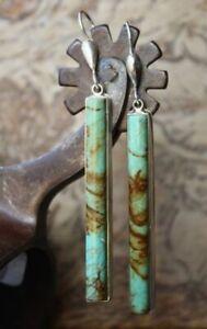 Antique Jewelry 925 Silver Turquoise Boho Ear Stud Hoop Dangle Wedding Earrings