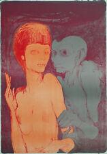 "ERNST FUCHS - ""Das ungleiche paar"" - rare signed/numbered lithograph  - 1967"
