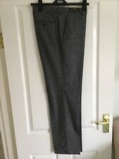 """M&S Smart Trousers W 40"""" L 31"""" Tailored Fit Grey Marl Soft Fabric With Stretch"""