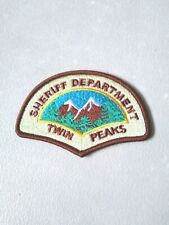 Twin Peaks Sheriff Department Iron On Patch Embroidered Uniform Logo TV Series