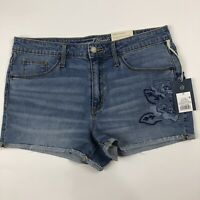 Universal Thread Hi Rise Stretch Shortie Cutoff Denim Blue Jean Shorts Sz 10 NWT