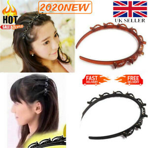 Double Bangs Hairstyle Hair Clips Bangs Hair Band Hairpin Headband with Clips UK