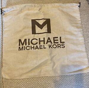 Michael Kors Dust Storage Bag Medium , canvas, drawstring. 15.5 in W x 14 L in.