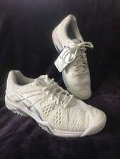 NEW ASICS Gel Resolution 12 M Women's Athletic Tennis Shoe White/Silver