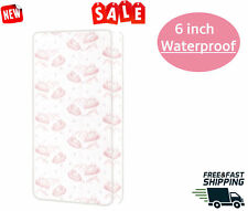 Crib Toddler Bed Mattress baby Fitted waerproof Pink spring and foam safe airy