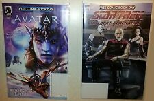 FCBD 2017 Comic lot,1 Avatar/Briggs land flip Book &1 Star Trek Mirror Broken NM
