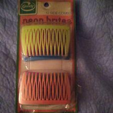 New Vintage Goody Neon Brites 12 Side Combs #8058/4