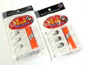 Fuji Fishing Rod Guide Tip Kit Réparation 3 Tailles Colle-BFRK 4 C//Noir