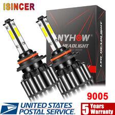 4 Sides 9005 HB3 LED Headlight Bulbs Total 3000W 600000LM High Low Beam 6000K