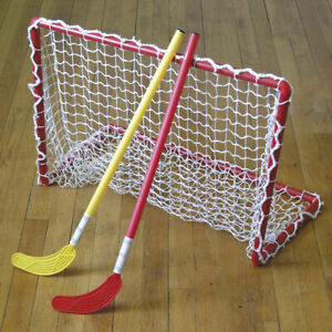 2 Eurohoc Plastic Goals With Nets and Carry Bag