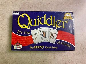 SEALED NEW Vintage 1998 Quiddler Card Game For The Fun Of Words Made In USA