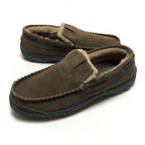 Clarks Mens Sage Venetian Suede Slip On Moccasin Slippers Size US 11 Medium