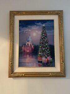 "Disney fine art framed canvas ""Cinderella's Castle"" by Larry Dotson. Signed"