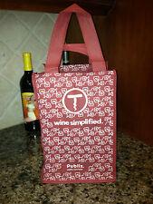 NEW  Wine Bottle Tote Bag Carrier Holds 4 Bottles PUBLIX Green bags crafts