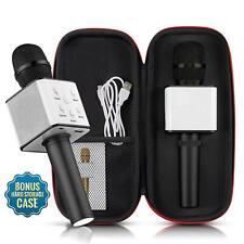 Mini Wireless Microphone Bluetooth Speaker Karaoke Q7 USB KTV Player US