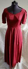 Vintage Laura Ashley Red Dress Size UK12 (Hospiscare)