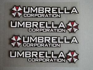 Set 4 x Umbrella Corporation z.b. Türgriffe Auto Aufkleber - Folie - Zombie