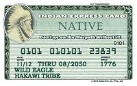 The Indian Express Card - American Exp plastic ID card Drivers License
