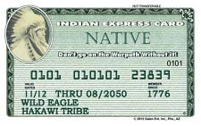 The Indian Express Card - American Exp plastic ID card Drivers License 14 avail.