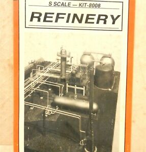 """PLASTRUCT KITS #8008 ~ S Scale """"TRACKSIDE SERIES"""" REFINERY ~ SEALED IN BOX ~T212"""
