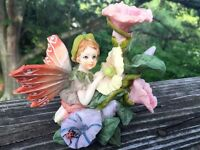 MORNING GLORY FAIRY Mystical Mythical UNIQUE Butterfly Wings Antique ONE OF KIND