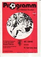 OL 76/77  HFC Chemie - FC Carl Zeiss Jena