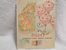 1928 JELL-O SALAD AND DESSERT RECIPE BOOKLET