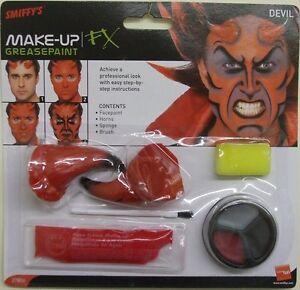 Halloween Fancy Dress Devil Make Up Face Paint Horns & Sponge Set by Smiffys