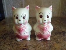 Vintage American Bisque Porky Pig Salt and Pepper Range Shakers