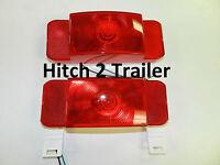 pair Optronics RVST60/61 Stop Tail Turn Lamp Light Trailer Camper RV Motorhome