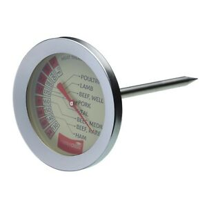 MASTERCLASS St'Steel Meat/Poultry/BBQ/Roast Probe Thermometer. Easy to Read/Use