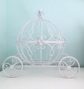 Cinderella Metal Carriage for Flower Centerpieces, Card Holder Great Home Decor