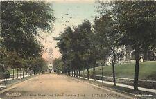 c1910 Hand-colored Postcard; Center Street & School for Blind, Little Rock AR