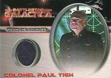 Battlestar Galactica Premiere Edition Colonel Paul Tigh Costume Card CC8