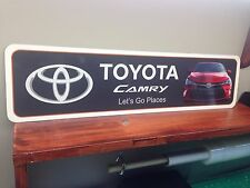 "Toyota Camry Full color Metal Sign 6"" x 24"""