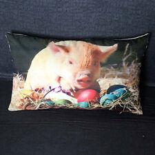 Cute Pig Animal Print Sofa Bed Home Decor Festival Pillow Case Waist Cover Throw F